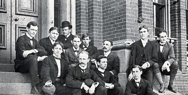 Historical photo of missionaries