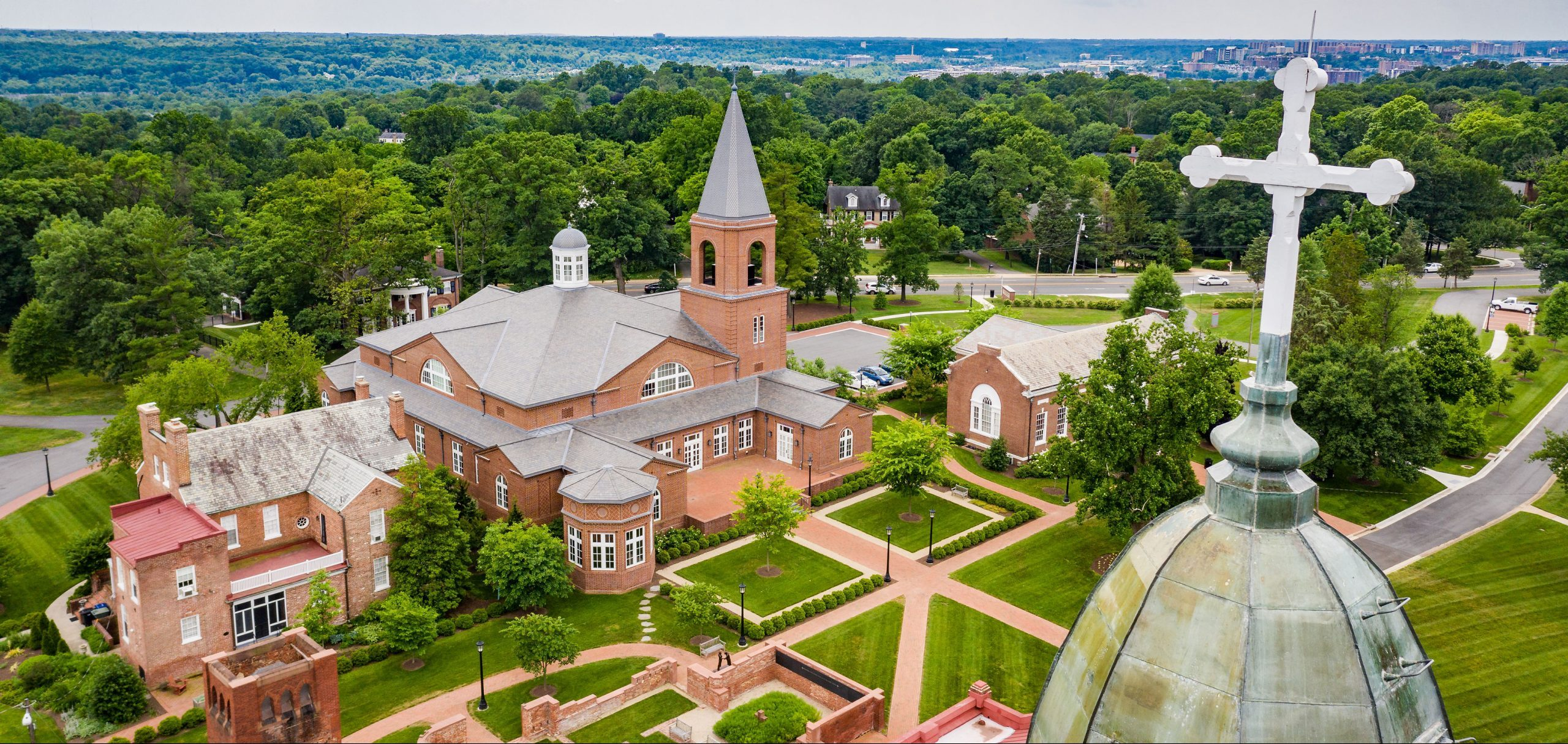 steeple view of campus