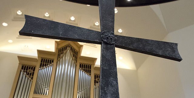 cross in chapel