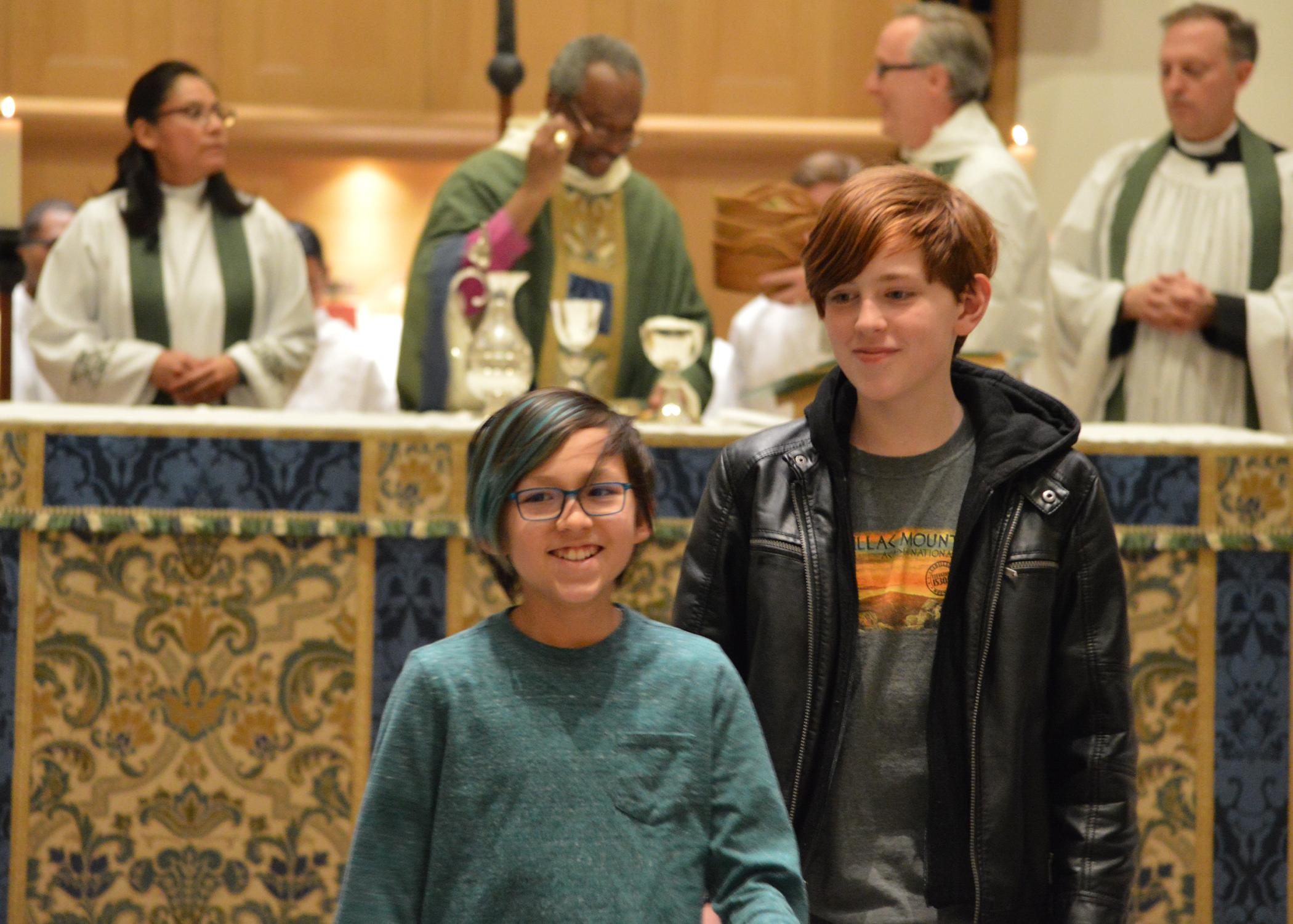 children in chapel